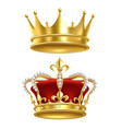 real royal crown imperial gold luxury monarchy vector image vector image