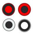 ribbon award red black white vector image