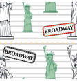 seamless background with statue liberty vector image
