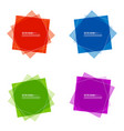 set colored banners vector image vector image