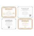 set of certificates of appreciation award vector image