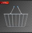 shopping basket on transparent background vector image