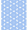 snowflake hexagon pattern vector image