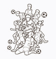 Soccer player team composition outline