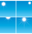 sunshine in the blue sky - set vector image vector image