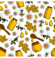 Sweet honey seamless pattern background vector image