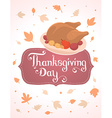 thanksgiving with deep fried turkey and text vector image vector image