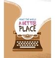 Vintage typewriter poster vector image vector image