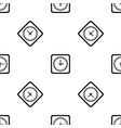 watch pattern seamless black vector image vector image