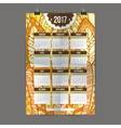 Zentangle colorful calendar 2017 hand painted in vector image vector image