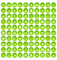 100 alcohol icons set green circle vector image vector image