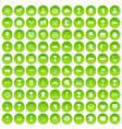 100 awards icons set green vector image vector image