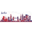 abstract london england city skyline with color vector image vector image