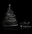 abstract silver christmas tree vector image vector image