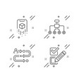 augmented reality journey path and restructuring vector image vector image