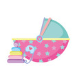 baby basket transport icon vector image