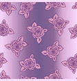 beautiful pink and lilac seamless pattern roses vector image vector image