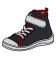 black childrens sneaker vector image vector image