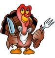 Brown Turkey vector image