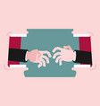 business dispute business hands reach for vector image