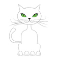 Cartoon cat sit vector image vector image