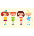 cartoon girls vector image vector image