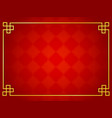 chinese traditional background with golden frame vector image