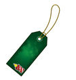 christmas candle gift tag vector image vector image