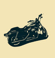 classic motorcycle isolated vector image vector image