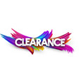 clearance paper poster with colorful brush strokes vector image vector image