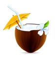 Coconut Cocktail vector image vector image