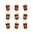 coffee - set of mascot vector image vector image
