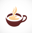 coffee tea cup abstract logo vector image