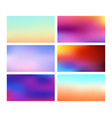 collection blurred backgrounds vector image vector image
