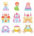 Collection cute little princesses magic
