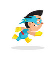 cute funny superhero boy character in a blue vector image vector image