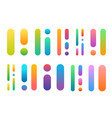 different colorful elements isolated on white vector image vector image