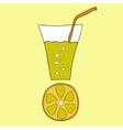 Doodle lemon juice vector image vector image