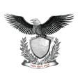 eagle branding logo design hand draw vintage vector image