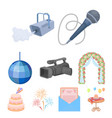 event service set icons in cartoon style big vector image vector image