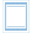 frame for cross-stitch embroidery Blue colors vector image vector image