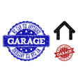 garage distress icon and stamps vector image