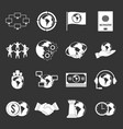 global connections icons set grey vector image vector image