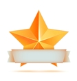 Golden 3d star premium The best reward vector image