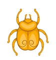 Golden Egyptian scarab beetle icon cartoon style vector image vector image