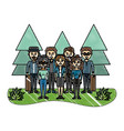 grated cute women and men friends together vector image vector image