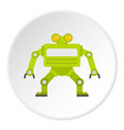green automatic mechanism icon circle vector image vector image