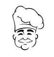 Happy european chef in toque hat vector image vector image