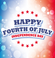 Happy Fourth of July America greeting card vector image