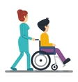 health care man in wheelchair vector image